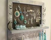 You Pick The Satin and Mesh Wall Mounted Jewelry Organizer, Wall Organizer, Jewelry Display