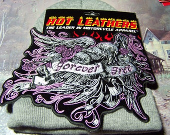 """Motorcycle Jacket Vest Patch """"Eagle Collage"""" 8 x 6"""""""
