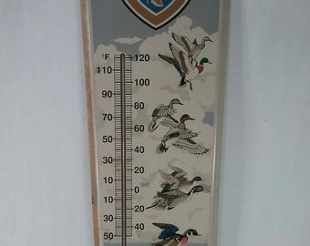 Vintage support ducks unlimited advertising thermometer hunting outdoors sign