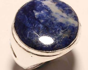Sodalite .925 Silver Ring 9.25
