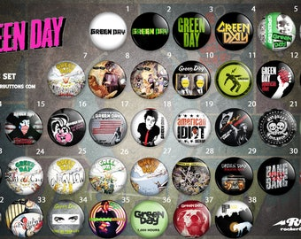 Collection sheets Green Day / / Green Day button collection