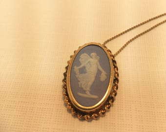 Vintage Blue Wedgewood Cameo Necklace