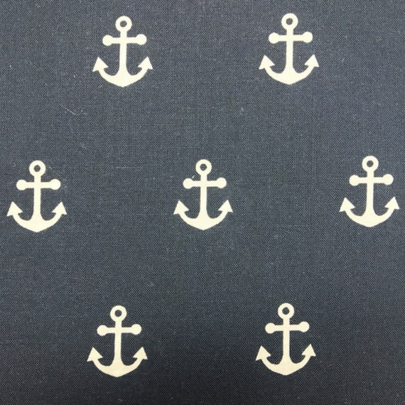 Nautical Anchor Fold Over Clutch / Cross Body