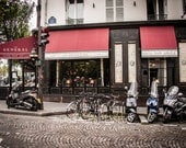 French Bistro Cafe Print,  Paris Wall Art, 8x10, 11x14, 16x24, 20x30, Home Decor, Print, Purple