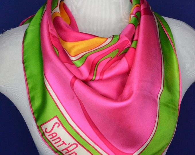 Vintage Estate Sant' Angelo Silk Scarf Made in Japan Sally Gee
