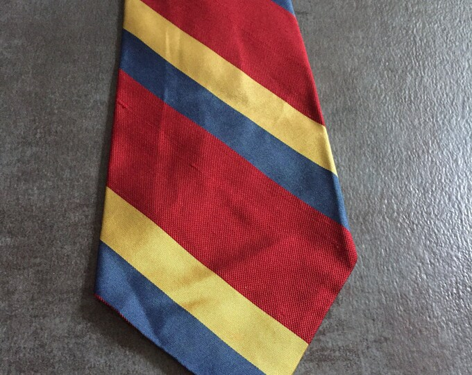 Vintage Estate Woodward Lothrop Red Blue Yellow Tie