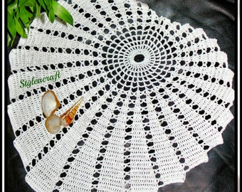 Magnificent Shell Doily Lotus Leaf Fractal Pattern