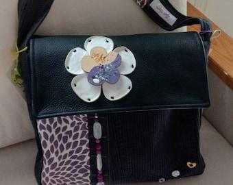 Tinted light purple bag, an original handmade bags by