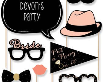 20 Bridal Shower Photo Booth Props - Best Day Ever Photobooth Kit with Custom Talk Bubble for Bridal Shower Party