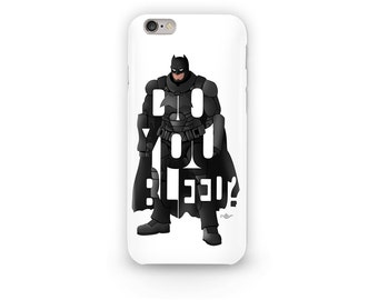 "Batman Phone Case Typography Design from the DC Universe with his question to Superman, ""Do You Bleed?"" All iPhone Case With Super Hero"
