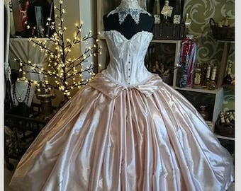 Carnival, historical raiment, prom dress, Quinceanera dress - 2 piece set consisting of skirt and corset, made to measure