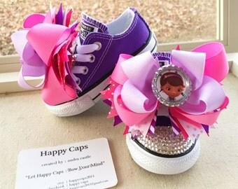 Doc Mcstuffins Shoe Toppers/Hair bow