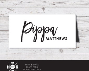 Printable - The 'Pippa & James' Place card | Modern | Reception Card | Seating Card