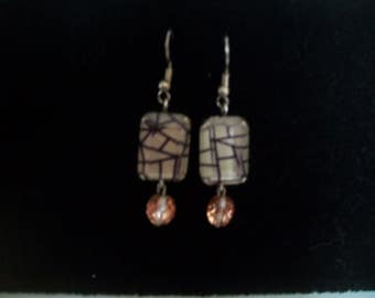 cabochon and swarovski earring