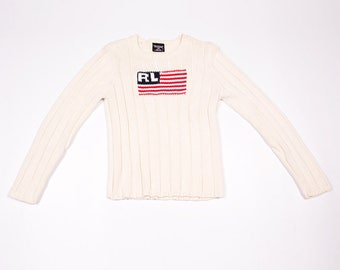 Vintage Polo Ralph Lauren RL Stars and Stripes Lolife Sweater Jumper
