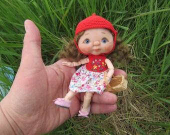OOAK BJD artist doll Handsculpt. BÉBÉ YuDoll. Ooak Head on Obitsu 11 Body. + Outfit . Obitsu11. Ob11