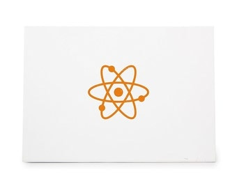 Atom Chemistry Particle Style 6909 Rubber Stamp Shape great for Scrapbooking, Crafts, Card Making