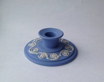 Wedgwood Blue & White Jasperware Candle Holder Classical Design candlestick