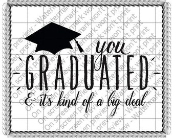 Graduation Big Deal Edible Cake or Cupcake Toppers - Choose Your Size