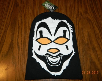 "New with tags- ICP ""Violent J"" Full Face Beanie with cut out eyes and nose"