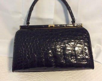 Vintage Belleston aligator bag