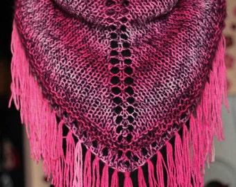 Wool Shawl - Knit Wrap - Women Knit Shrug