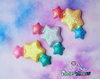 sparkling angelic stars hair clips kawaii,fairy kei, harajuku, dolly, soft grunge, lolita
