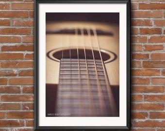 Acoustic Guitar Photography Print Printable Art Downloadable Print