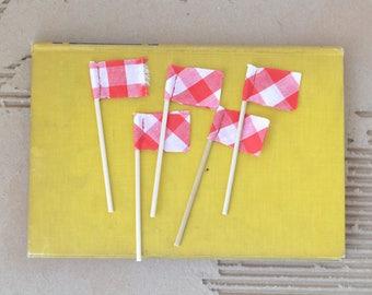 Set of FIVE MINI pennants.