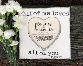Engagement gift personalized picture frame 4x6 opening boyfriend fiancé rustic home decor shabby chic farmhouse - Flowers in December DS