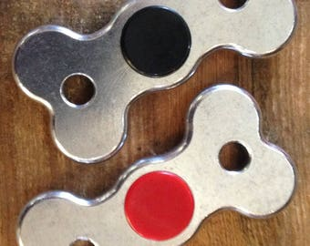 Dogbone Spinner Fidget, durable and beautiful aluminum, sensory toy, adhd aid, spins for over two minutes