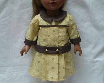 """1910 Casual dropped waist dress for 18"""" doll"""