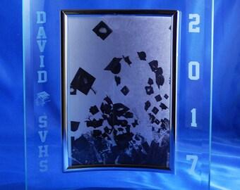 Personalized 5x7 Graduation Frame with Beveled Edge, Photo Frame, Custom Picture Frame, Graduation Frame, Personalized Frame, Frame (CS4127)