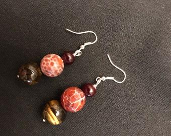 Earrings natural stone