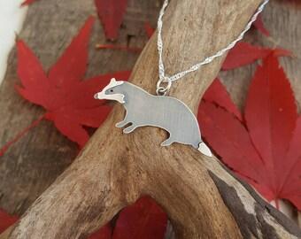 Sterling silver badger