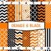 Pattern Vinyl, Orange, Black, Chevron, Quat, Stripes, Polka Dot Adhesive 651 Vinyl, HTV, Decals, Halloween, Easter