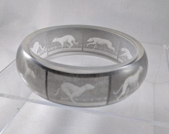 Eadweard Muybridge's study of Dog Locomotion resin bangle bracelet