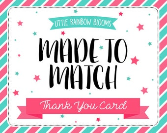 M2M Thank You Card - Add on