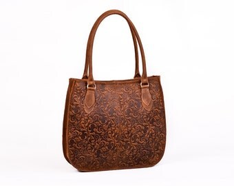 Leather Shoulder Bag, Leather Handbag, Leather tote, Everyday Bag. Sale!