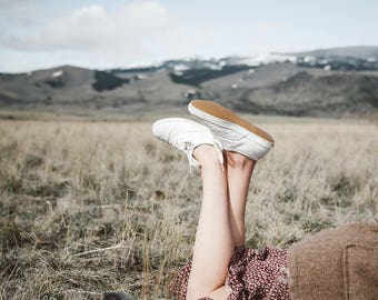 vintage white Keds sneakers