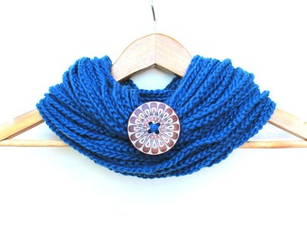 Turquoise Chain Infinity Scarf