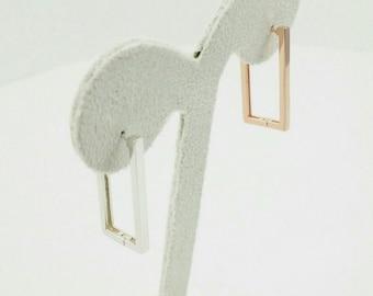 sterling silver earrings, silver hoop earring
