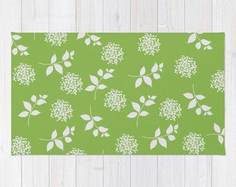 Spring Greenery Throw Rug,  Area Rug