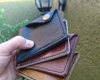 Men's wallet - men's leather wallet - handmade leather wallet - minimalist wallet - men's card holder - Le Royal