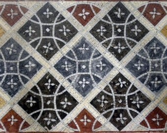 Geometric Floor Mosaic - Amelie III