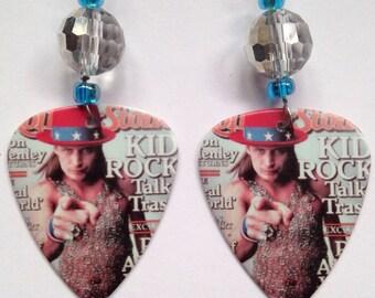 1 Pair- Kid Rock Guitar Pick Earrings