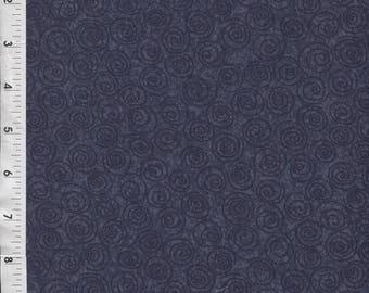 """Free Spirit """"Designer Pinwheels"""" Cosmic Blue Fabric"""