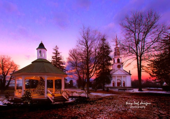 Sutton Gazebo and Church Original Photography