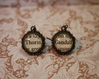 Thorin ~ Gandalf Earrings ~ The Hobbit ~ The Lord Of The Rings ~ J.R.R Tolkien ~
