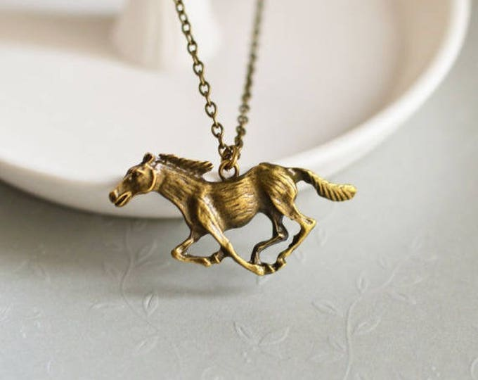 GALLOP // Pendant Horse from metal brass // 2015 Best Trends //